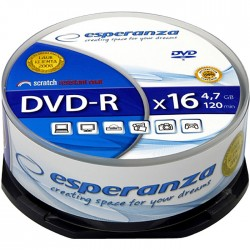 DVD-R 4,7GB 16x Speed Cakebox 25τμχ ESP
