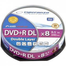 DVD+R DOUBLE LAYER 8,5GB 8x Speed Cakebox 10τμχ ESP