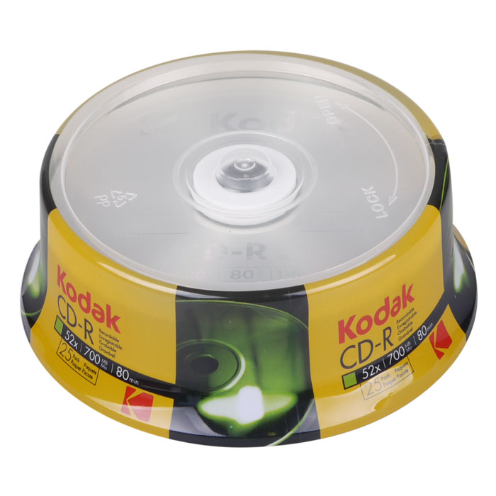 KODAK CD-R 52x 700MB 25Pack Cakebox