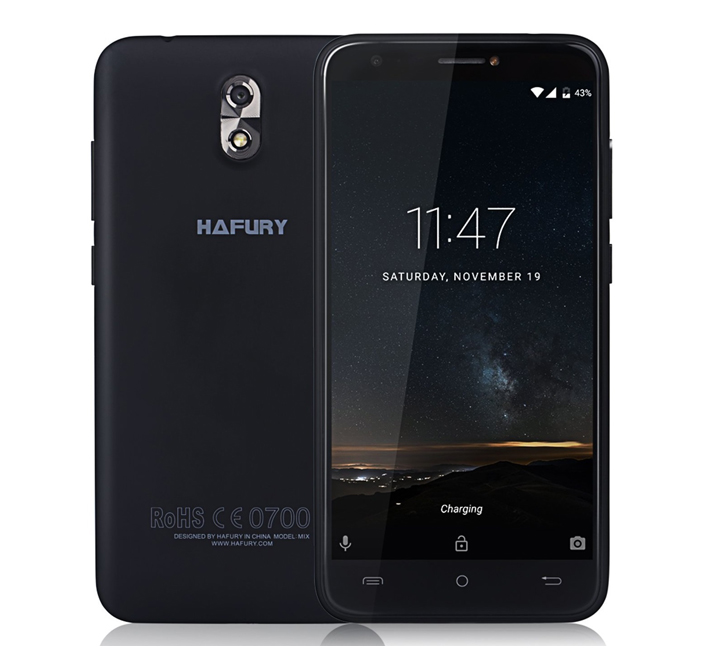 Cubot Smartphone HAFURY MIX Black 16GΒ 5'' Quad Core