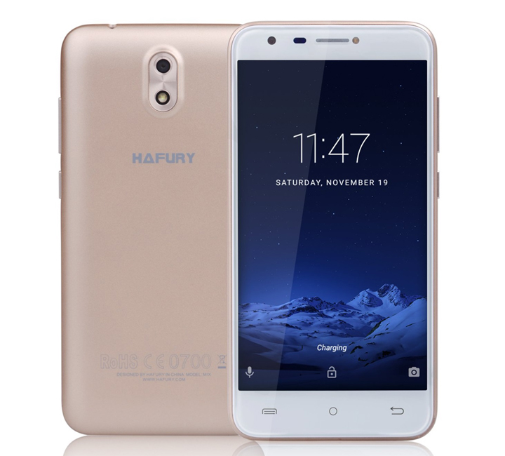 Cubot Smartphone HAFURY MIX Gold 16GΒ 5'' Quad Core