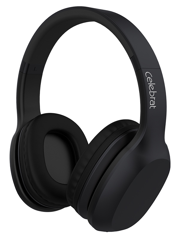 CELEBRAT Bluetooth headphones A18-BK Wireless & Wired Μαύρο