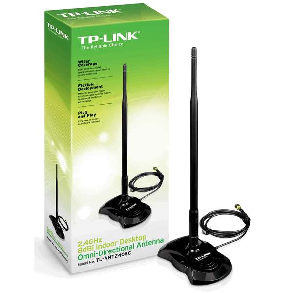TP-LINK TL-ANT2408c 8dbi 2.4GHz Indoor Omni-directional Antenna