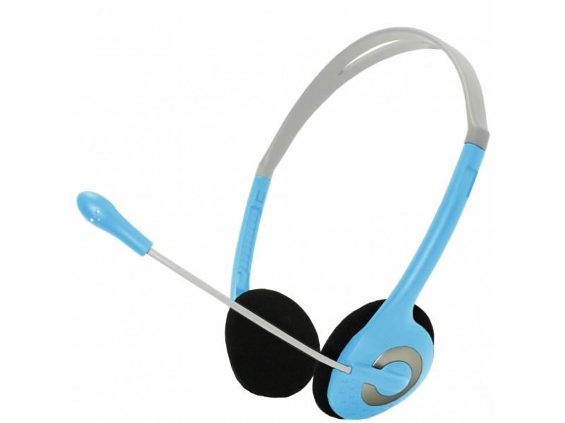 APPROX Lightweight Stereo Headsets Light Blue appHSLBVL