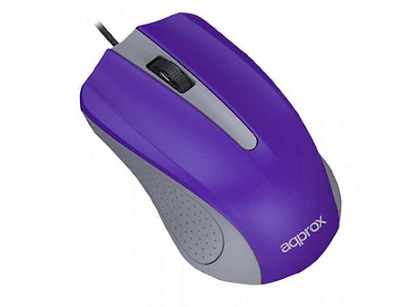Approx Optical Mouse USB White/Red/Light Blue