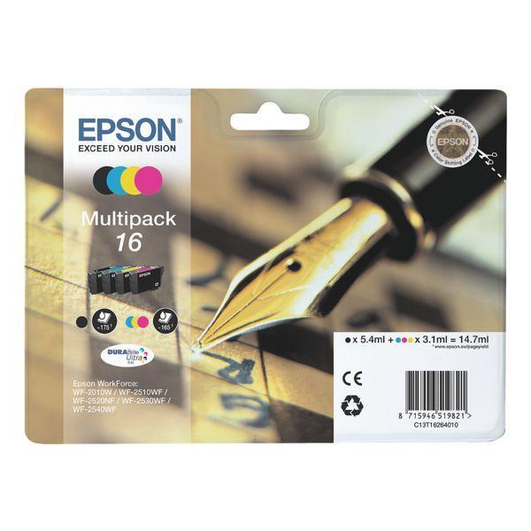 Μελάνι Epson T162640 Multipack 4Colors Black-Cyan-Magenta-Yellow