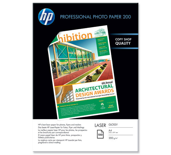 HP Professional Glossy Laser Photo Paper A4 200gr 100 Φύλ CG966A