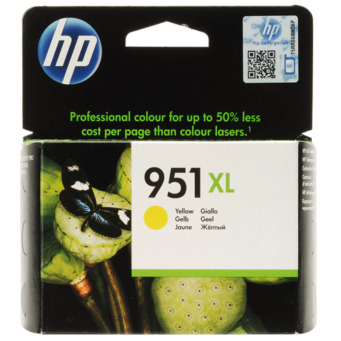 Έγχρωμο Μελάνι HP No951XL Yellow Ink Cartridge CN048AE
