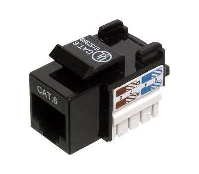 Βύσμα Keystone Cat6 Black για Πρίζα Ethernet DN-93601