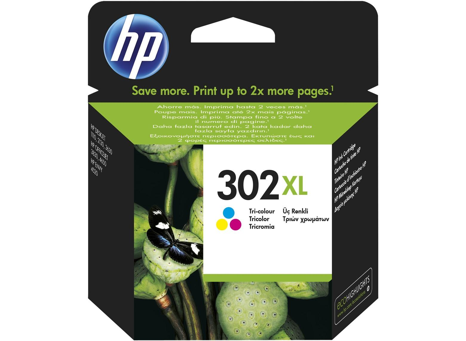 Εγχρωμο Μελάνι HP No302XL Color F6U67AE Deskjet 2130 330p