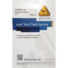 Intel Anti-Theft Service Activation Code Card για ένα έτος