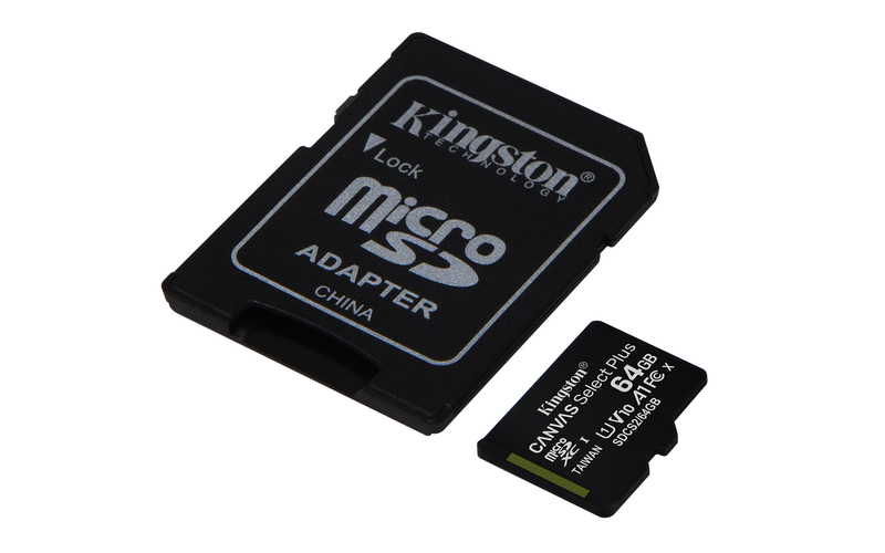 KINGSTON Memory Card SD 64GB SDCS2/64GB Canvas Select Plus