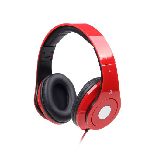 GEMBIRD Folding stereo headphones Detroit RED