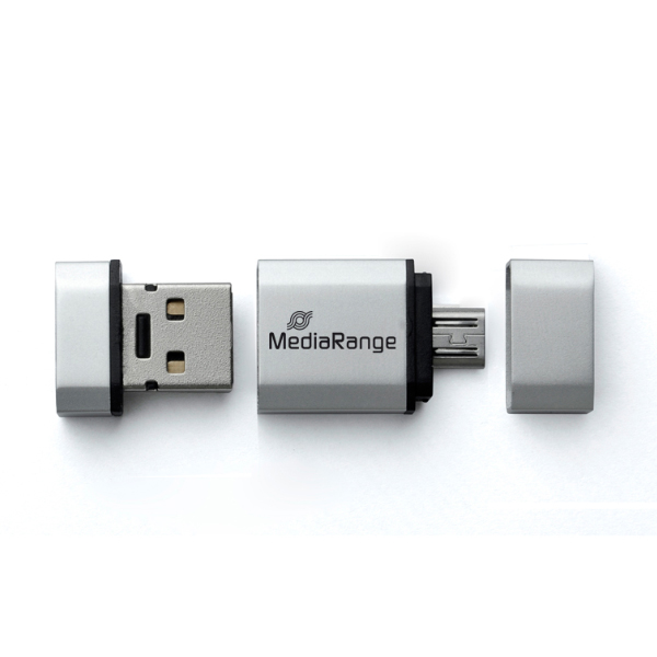 Mediarange 32GB USB 2.0 2in1 Flash Drive with Micro USB OTG