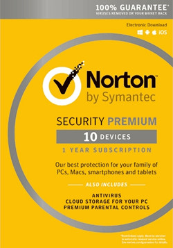 Norton Security Premium 3.0 10άδειες για PCs/Tablets/Smartphones