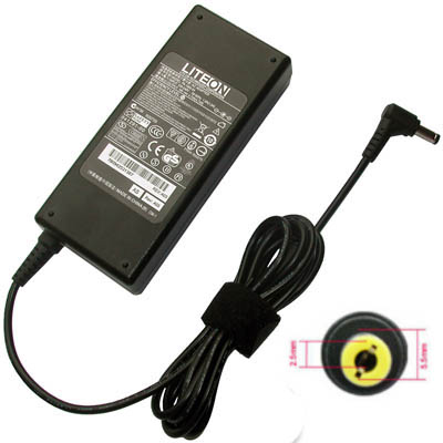 Original AC Adapter for Liteon 19V-4.74A (5.5mm*2.5mm) 90Watt