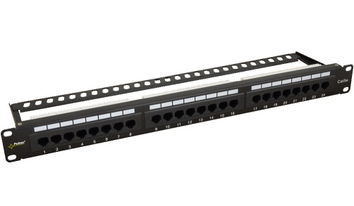 "Patch Panel 24-port κατανεμητής 19"" για Rack Cat5e Pulsar"