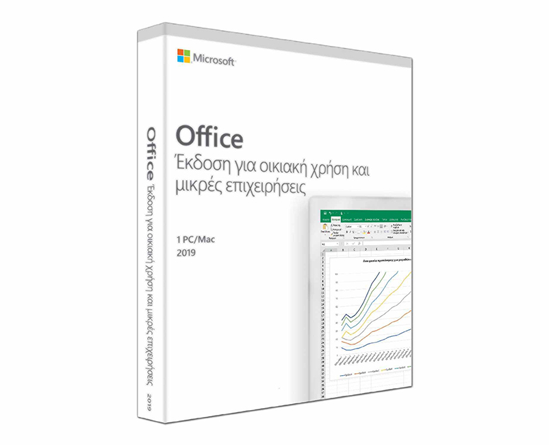 Microsoft Office Home & Business Greek 2019 (Word+Ex+PP-OUT) Key