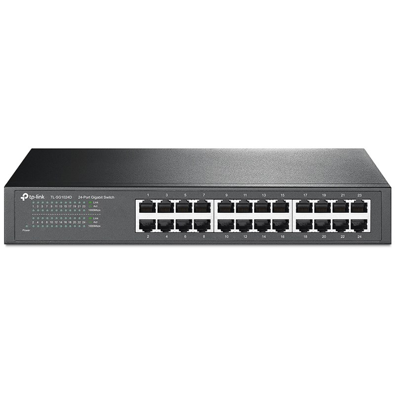 TP-LINK Switch 24PORT 10/100/1000 Rackmount TL-SG1024D