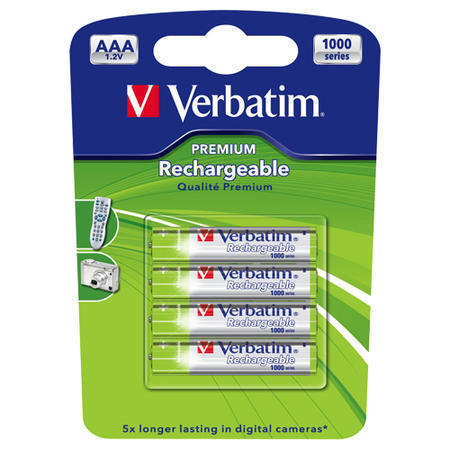 VERBΑΤΙΜ AAA ΜΠΑΤΑΡΙΑ LR03 Rechargeable 4 PACK 1600mAh 49942
