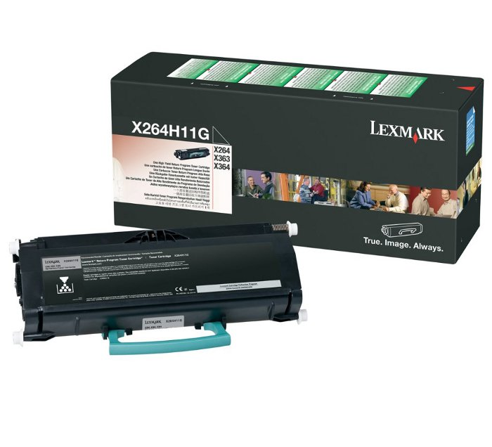 Toner Lexmark Black X264H11G X264/363/364 9000 pages X264