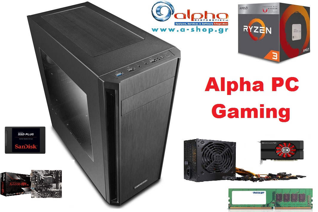 Alpha PC Gaming Ryzen 3 2200G/8Gb-2666MHz/240GbSSD