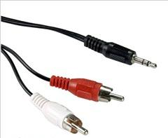 Καλώδιο ήχου Stereo 3.5mm Plug to 2RCA Plug 3m