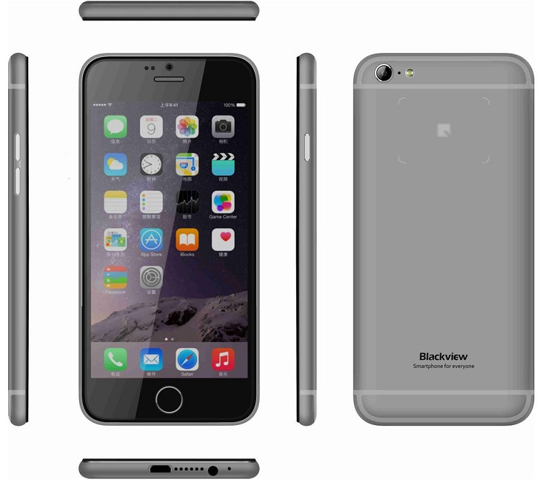 "Κινητό Τηλέφωνο BlackView 4,7"" Iphone Like Quad 1Gb/8Gb-BLACK"