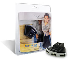 Canyon USB Hub 4port power plug(CNR-USBHUB6)