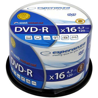 DVD-R 4,7GB 16x Speed Cakebox 50τμχ ESP