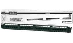 "DIGITUS 19"" CAT 5e patch panel 24-port DN-91524U"