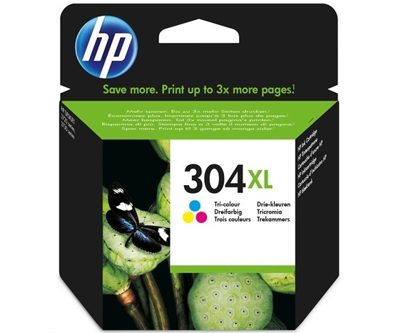 Έγχρωμο Μελάνι HP No304XL Tri-Color Ink N9K07A 300p