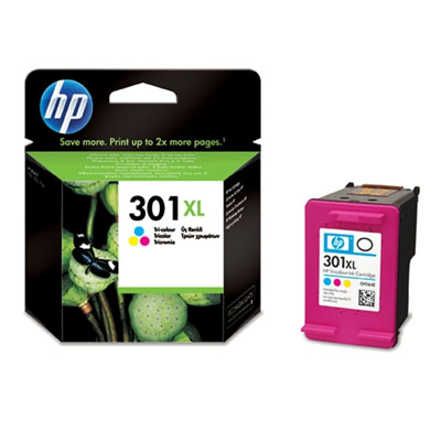 Έγχρωμο Μελάνι HP No 301 XL Tri-Color Ink Cartridge (CH564EE)
