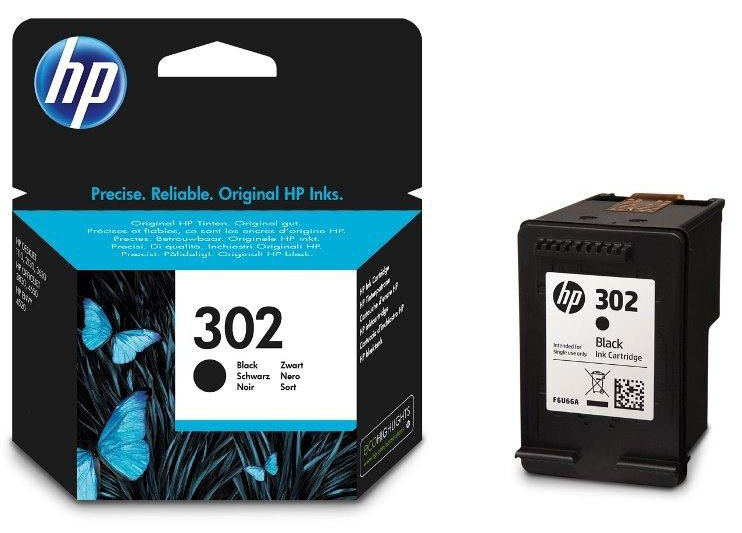 Μαύρο Μελάνι HP No 302 Black Ink Cartridge F6U66A Deskjet 2130