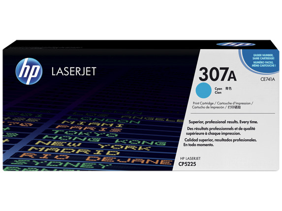 Toner HP LaserJet CP5225 HP 307A Cyan Cartridge 7,3k Pages