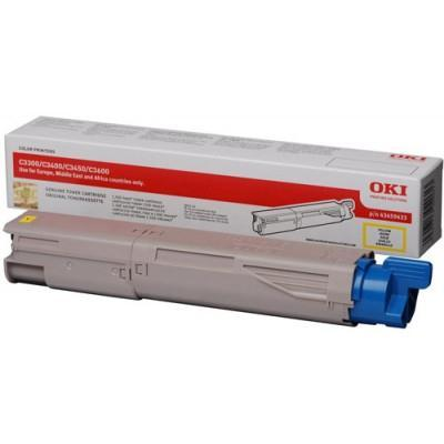 Toner Laser OKI C3300/C3400/3450/3600 Yellow 1500 Pages 43459433