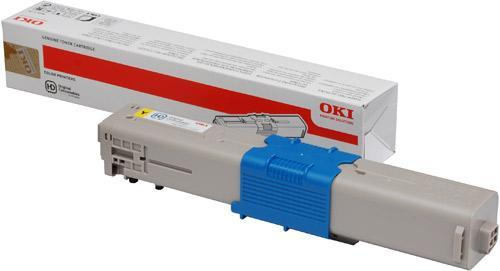 Toner Laser Oki C301/C321/C332 44973533 Yellow 1.5K Pages