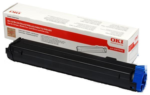 Toner OKI B430/440/460/MB460 BLACK Okipage 7000pages 43979202