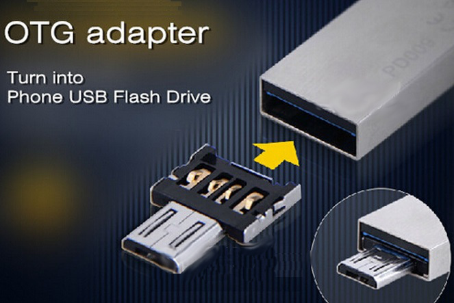 DM USB to Micro USB Male OTG Adapter SmartPhones USB to MicroUSB