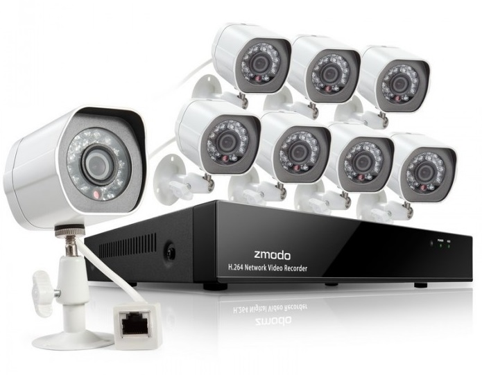 Πλήρες NVR IP 1Tb Kit 8x IP HD Κάμερες Indoor/Outdoor Night POE