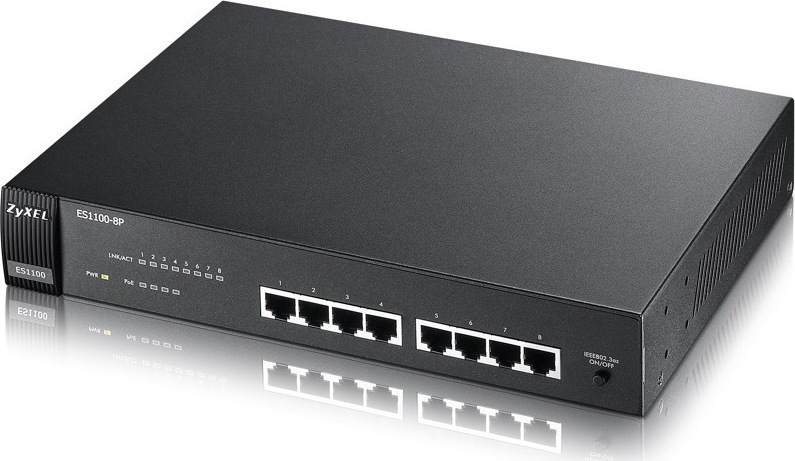Zyxel 8Port Switch 10/100 with POE ES-1100-8P